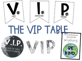 Space: VIP table decor