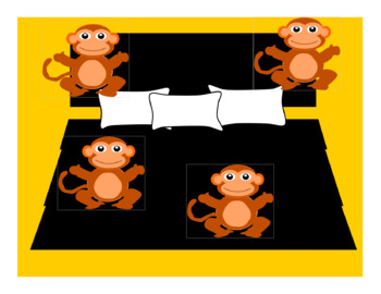 Vipkid Monkeys Jumping On the Bed Reward for Online or Traditional Classroom Art