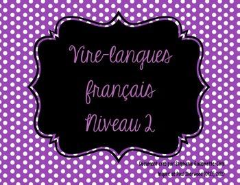 Vire-langues français, niveau 2