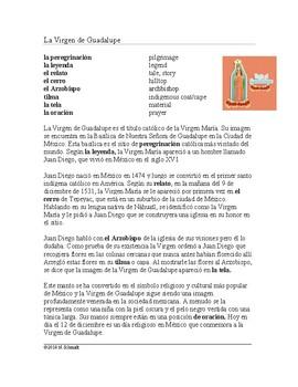 Virgen de Guadalupe y Juan Diego Lectura y Cultura: Spanish Cultural Reading