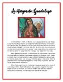 Virgen de Guadalupe- Lesson Plan: Includes Story, Prayers,