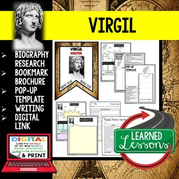 Virgil Biography Research, Bookmark Brochure, Pop-Up Writing Google