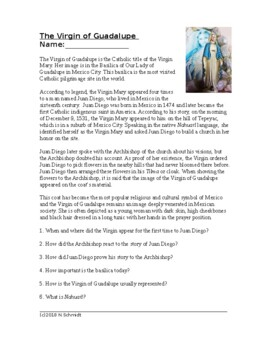 Virgin of Guadalupe Cultural Reading (English Version)