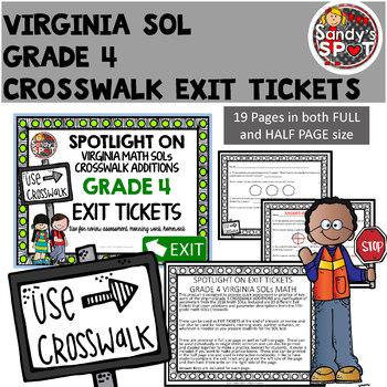 Virginia 2016 SOL CROSSWALK ADDITIONS Exit Tickets Grade 4 Math