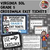 Virginia 2016 SOL CROSSWALK ADDITIONS Exit Tickets Grade 5 Math