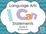 Virginia 3rd Grade I can Statements for Language Arts