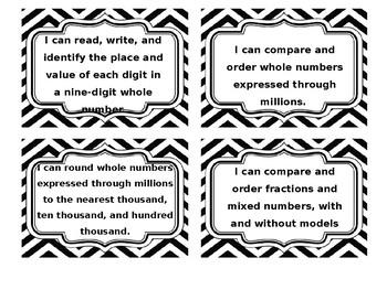 "Virginia 4th Grade Math ""I Can"" Statements-2016"
