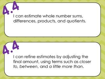 Virginia 4th Grade Mathematics I Can Statements