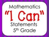 Virginia 5th Grade Mathematics I Can Statments