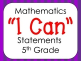 Virginia 5th Grade Mathematics I Can Statments