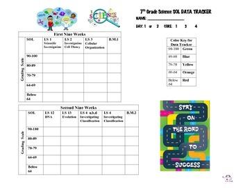 Virginia 7th Grade Science Notebook Tracker