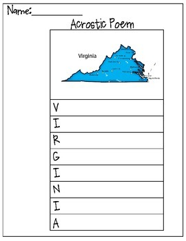 Virginia Acrostic Poem