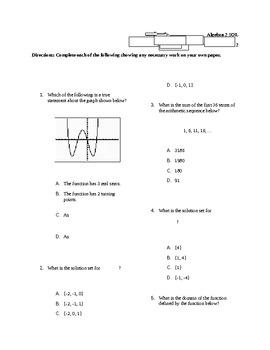 Virginia Algebra 2 SOL Practice Test 2