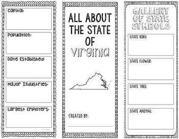 Virginia - State Research Project - Interactive Notebook -
