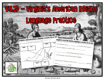 Virginia American Indian Languages & Groups Practice - VS.2d Review