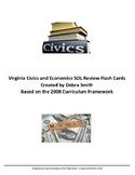 Civics and Economics SOL Review Flash Cards - Virginia