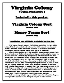 Virginia Colony Sorts