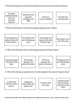 Virginia Culture and Economy Quiz