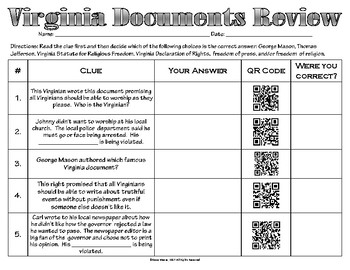 Virginia Documents Review