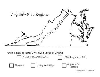 Virginia Geography Activities