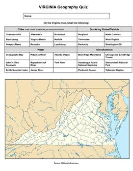 Virginia Geography Quiz