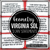 "2016 Geometry Virginia SOL:  ""I Can"" Statements"