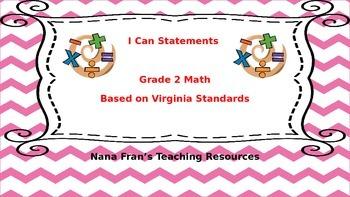 Virginia Grade 2 Math I Can Statements