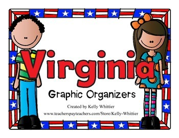 Virginia Graphic Organizers (Perfect for KWL charts and geography!)