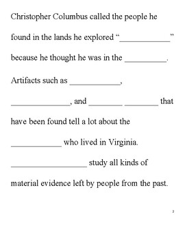 Virginia Guided Notes-Native Americans