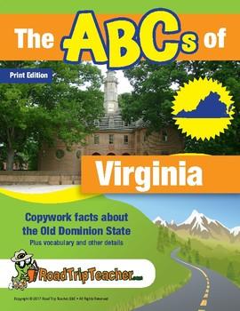 Virginia Handwriting Printables - Print Edition