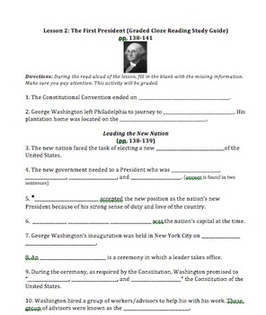 Virginia Harcourt Horizons Study Guide 5th grade