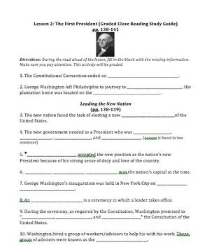 Virginia Harcourt Horizons Study Guide 5th grade