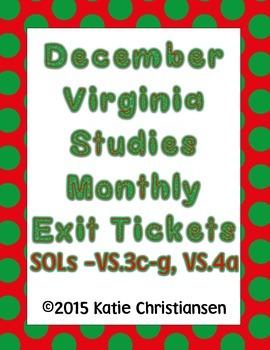 Virginia History December Review VS.3c-g, VS.4a