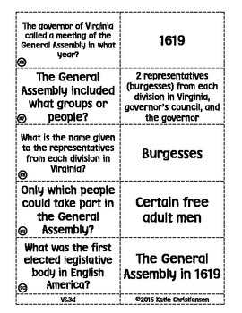 Virginia History Flash Cards