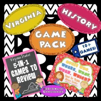 Virginia History Games Bundle!