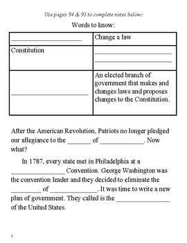 Virginia History Guided Notes- Building a New Nation