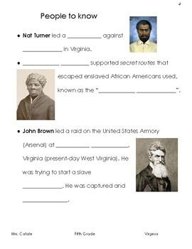 Virginia History Guided Notes- Civil War
