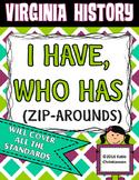 Virginia History I Have, Who Has (Zip Around) VS.2 - VS.10