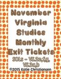 Virginia History November Review VS.2e,f,g, VS.3a,b