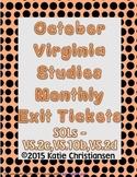 Virginia History October Review VS.2c, VS.10b,VS.2d
