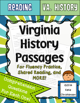 Virginia History Reading Passages