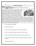 Virginia House of Burgesses Worksheet with Answer Key
