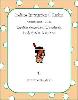 Virginia Indians Instructional Packet - Worksheets, Quizzes, & More!