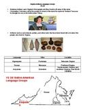 Virginia Indians Language Groups Notes SOL VS.2d