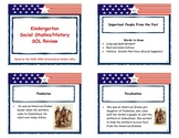 Virginia Kindergarten History/Social Studies Review Cards