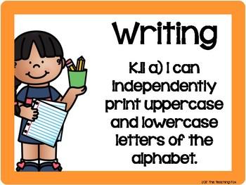 Virginia Kindergarten Standards - Writing