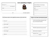 Virginia Lawmaking Process note page (Virginia Civics SOL CE.7C)
