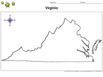 Virginia Map - Blank - Full Page - King Virtue's Classroom