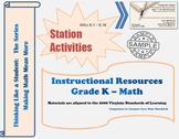 Virginia Math Kindergarten Station Activities