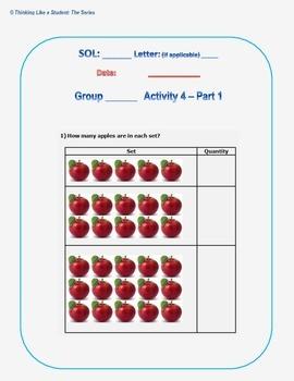 Virginia Math Kindergarten Station Activities - SOL K.4